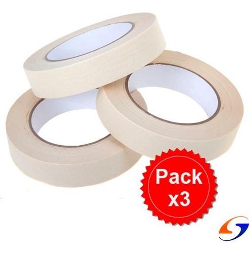 Cinta Papel Enmascarar 18mm. Pack X3 Serviciopapelero