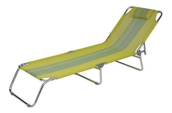 Cadeira Piscina Espreguicadeira Verde Água Alumínio - Mor