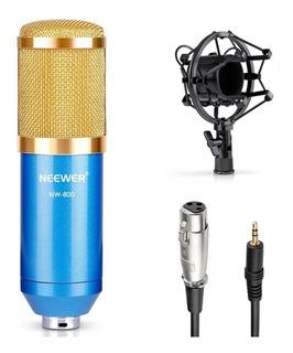 Microfono De Condensador Estudio Podcast Youtube Graba Voz