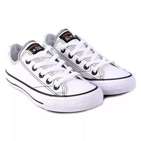 All Star Converse Branco De Couro
