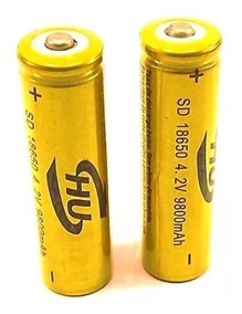 3 Unidades Bateria Lítio Recarregável 18650 4.2v 9800mah