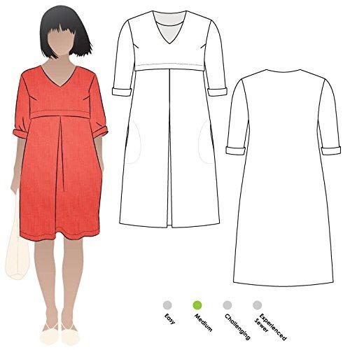 Patron De Costura De Estilo Arco R Patricia Rosa Vestido