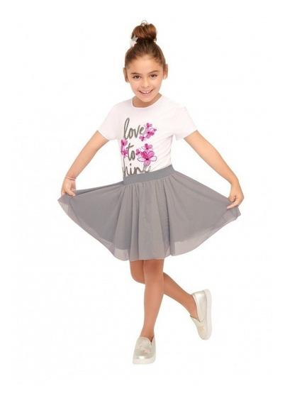 Conjunto P/niña Playera + Falda Ilusion 8334 Glitter Pv20