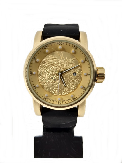 Relógio Dourado Esportivo 1322 Masculino + Caixinha Promoção