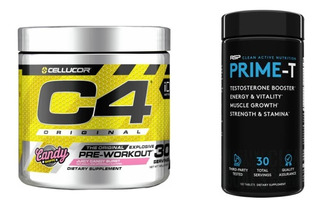 Pre Treino C4 Extreme Ripped Cellucor + Prime Rsp Nutrition