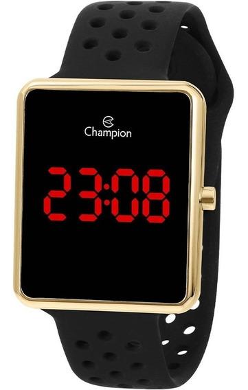 Relógio Champion Masculino Digital Dourado E Preto Original
