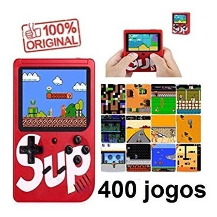 Kit 3 Vídeo Game Portátil Mini Game Sup 400 Jogos Internos