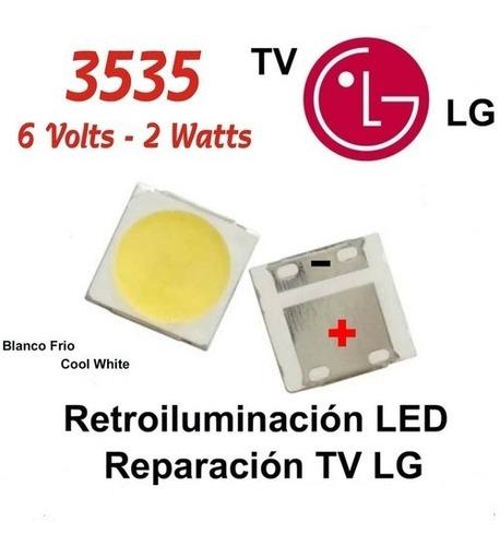 Diodos Led  De Retroiluminacion 3535 6v 2w  LG  Cool White