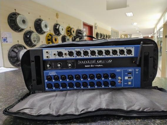 Mesa Som Digital Soundcraft Ui24 R + Capa Garantia Nf