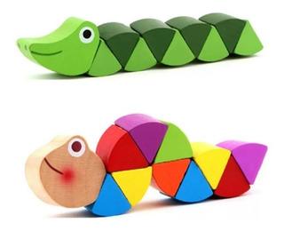 Pack 2 Juguetes Montessori Madera Aprendizaje Educativo