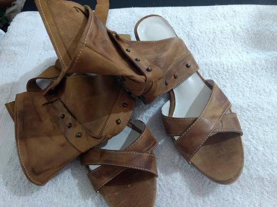 Zapato Marron Cuero Numero 36