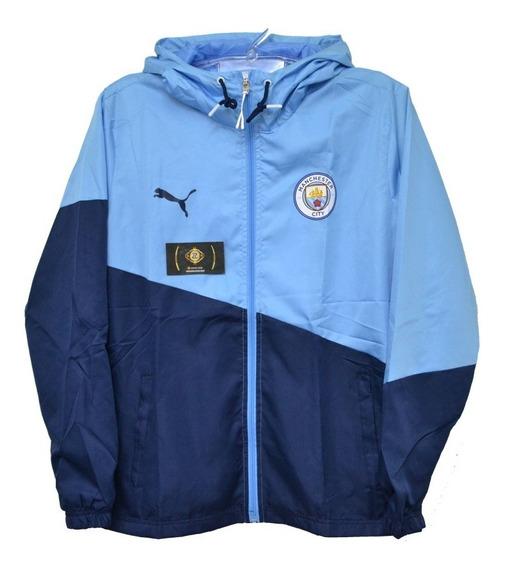 Jaqueta Corta Vento Nova Do Manchester City Azul - Original