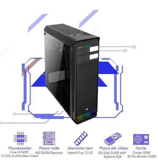 Computador Gamer I5 9600k+12gb Ram+rtx 2060 Super Amp 8gb