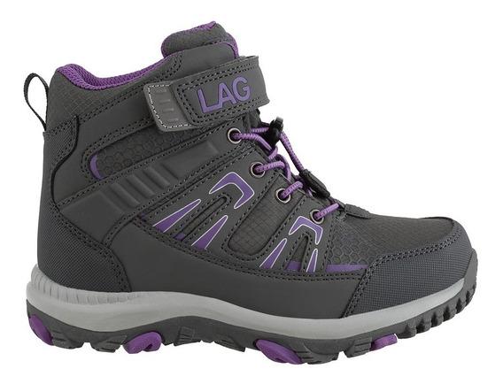 Botín Niña Outdoor Grey/purple 2fz6619 (26 Al 33) Lag Kids