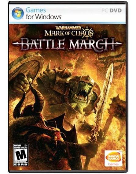 Jogo Midia Fisica Warhammer Mark Of Chaos Battle March De Pc