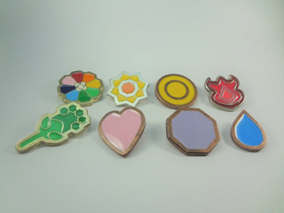 Set De 8 Medallas Pokemon Kanto Pines