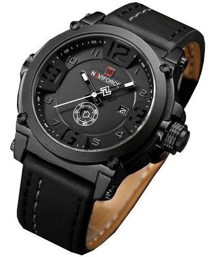 Relógio Masculino Original Social Naviforce Nf9099 Elegante Casual Pulseira De Couro