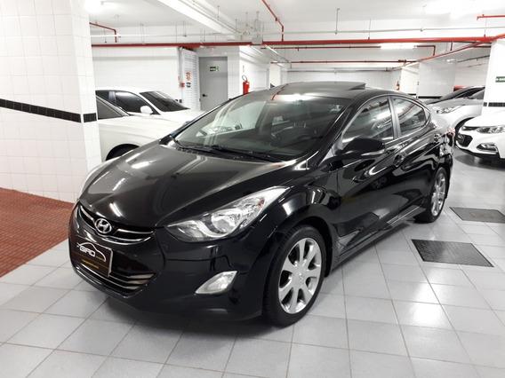 Hyundai Elantra Gls 1.8 Flex 2013 Preto Teto Solar