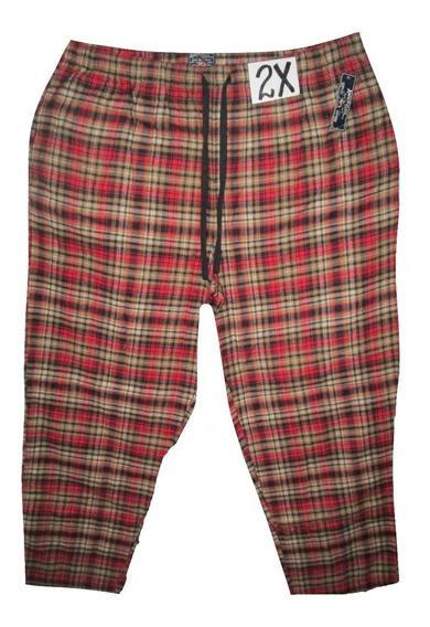 Pantalon Pijama Rojo Y Crema Cuadros De Hombre Talla 2x Amer