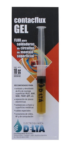 Imagen 1 de 2 de Flux Gel Contacflux Jeringa Soldaduras Montaje Superficial