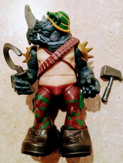 Rocksteady Visual Anos 80 - Playmates Tartarugas Ninjas