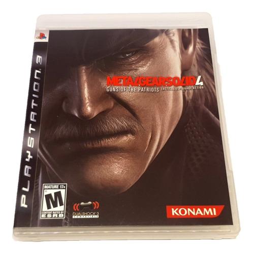 Metal Gear Solid 4 - Ps3 (mídia Física, Perfeito Estado)