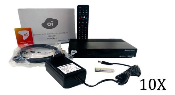 10 Receptores Digital Oi Tv Livre Hd Promoção