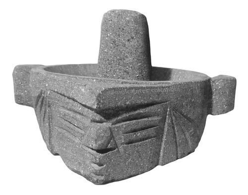 Molcajete / Mortero Taita 18cm De Piedra Volcánica