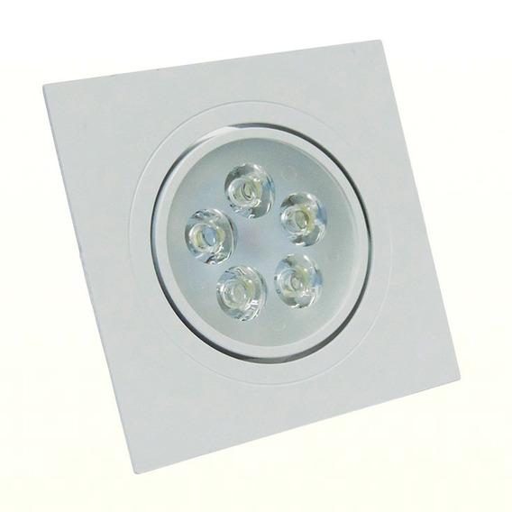 Luminária Spot Led Embutir Quadrado 7w Luzamarel Aquicompras