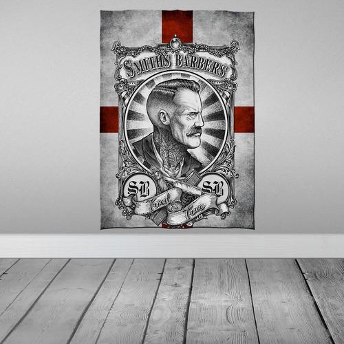 Imagem 1 de 3 de Stompy Bandeira Decorativa Decoração Barber Shop Smiths