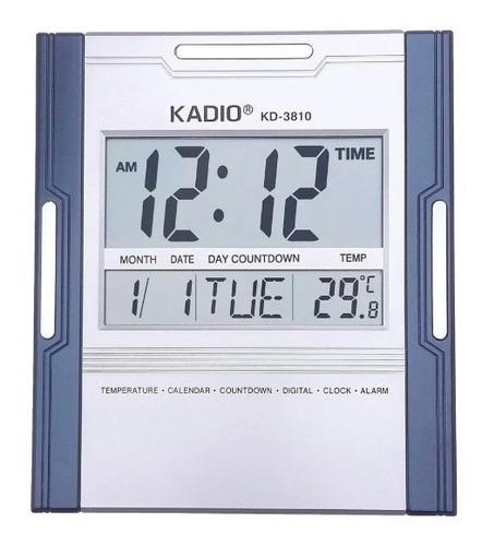Reloj Termometro Alarma Calendario Digital Kadio + Baterias
