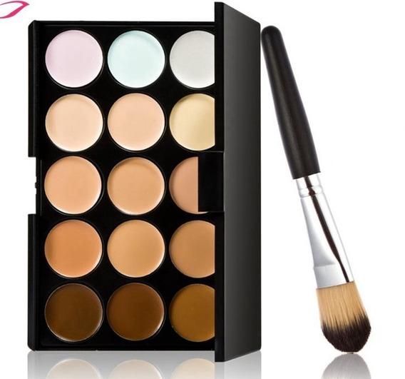Paleta De Correctores Con Brocha Calidad Maquillaje Premium