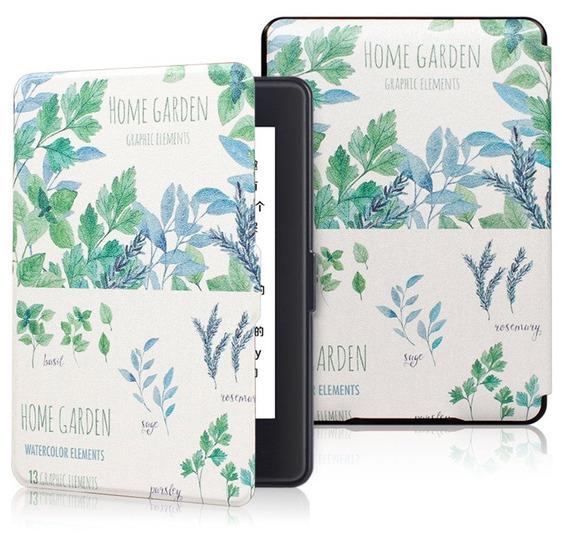 Capa Home Garden Jardim Paisagismo Decoração Couro Kindle Paperwhite 1 2 3 Antigo Película Brinde Proteção Hiberna