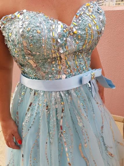 Vestido De Festa Princesa Lindo Usado Apenas Uma Vez