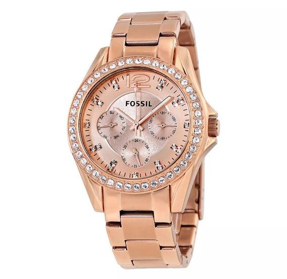 Relógio Feminino Fossil Es 2811 Dourado ( Original )