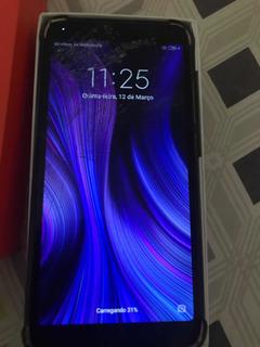 Xiaomi Redmi 6a Black 32gb 2gb Com A Tema Trincada!