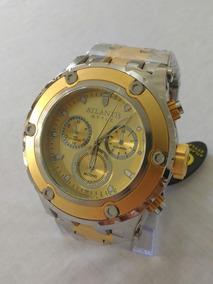 Relógio Masculino Dourado Atlantis J-3358 Original