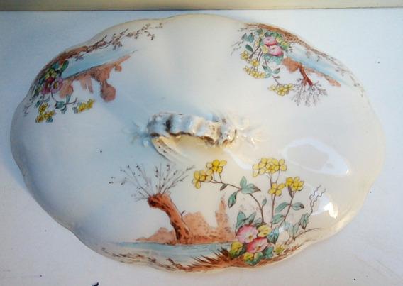 Antigua Tapa Vajilla De Porcelana