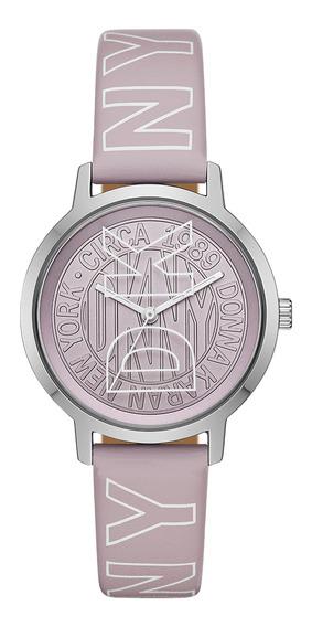 Reloj Dama Dkny Ny2820 Color Lila De Poliuretano