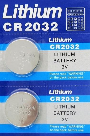 2 X Cartela Bateria Lithium Cr2032 3v C/5 Unidades Cada