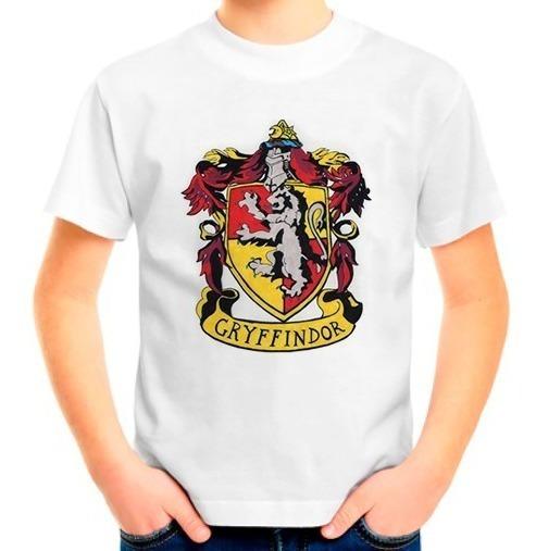 Camiseta Infantil Camisa Harry Potter Gryffindor Grifinória