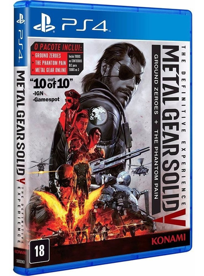 Jogo Ps4 - Metal Gear Solid The Definitive Ex Novo - Lacrado