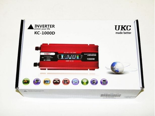Imagen 1 de 5 de Inversor De Corriente Bateria 12v A 220v 1000watts