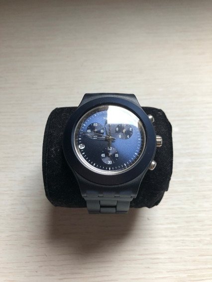 Relógio Swatch Stainless Steel Azul Escuro