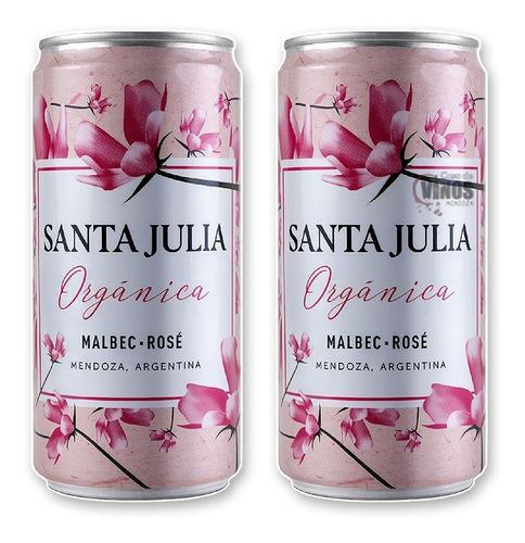 Vino Santa Julia Organica Malbec-rose 269ml X 6 Unidades