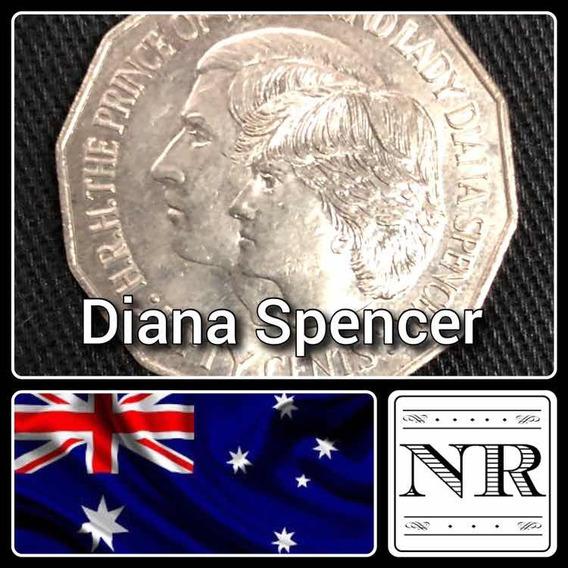 Australia - 50 Pence - Año 1981 - Km # 72 - Boda Lady Diana
