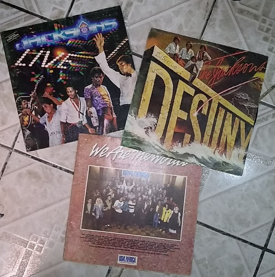Lp Disco Vinil Michael Jackson (lote Com 7)
