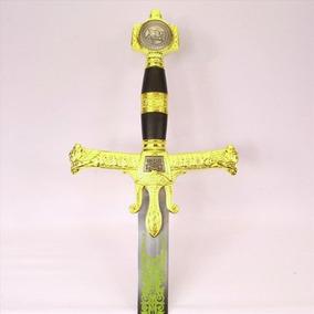 Espada Medieval Rei Davi - Rei Salomão Dourada - 1,20metros