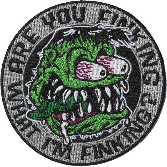 Parche Bordado Are You Finking Tattoo Punk Pin Up Kreeps141