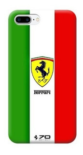 Funda Case iPhone 5 6 7 8 X Plus Ferrari Italia Bandera Logo